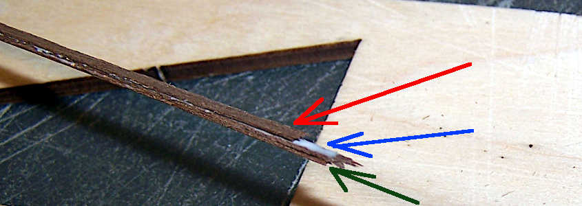 Step 4 di come si incollano dei listelli di noce per aumentare lo spessore.